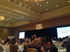 MASK Publishe Kimberly Cabral speaks at the Unity Luncheon at The Fairmont Princess
