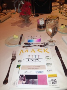The Table settings at the Unity Luncheon.